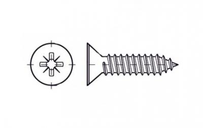 DIN 7982-C цинк Саморіз з потайною головкою PZ