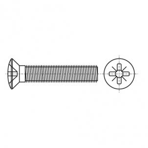 DIN 966 4,8 цинк Гвинт з напівпотайною головкою і хрестоподібним шліцом PZ