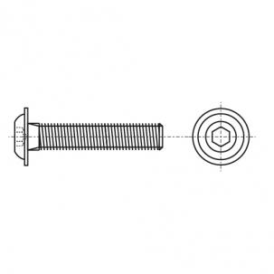 ISO 7380-2 10,9 цинк платковий черный Болт с полукруглой головкой и внутренним шестигранником