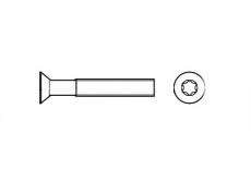 DIN 965 4,8 цинк Винт с потайной головкой под torx