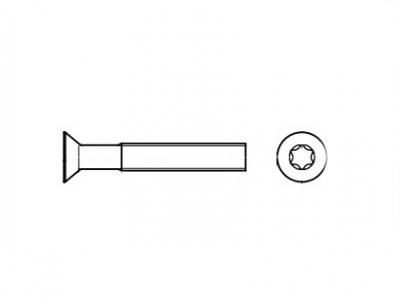 DIN 965 4,8 цинк Гвинт з потайною головкою під torx