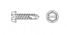 https://dinmark.com.ua/images/DIN 7504 KL Саморез с шестигранной головкой и буром та прямим шлицем - Інтернет-магазин Dinmark