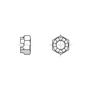 DIN 937 A2 Гайка корончата низька