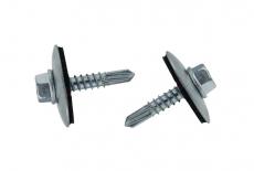 DIN 7504 KO цинк Саморіз Cladfast з шестигранною головкою, буром і шайбою EPDM 25мм