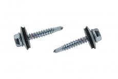 DIN 7504 KO цинк Саморіз Cladfast з шестигранною головкою, буром і шайбою EPDM 14мм