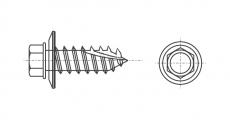 https://dinmark.com.ua/images/ART 7504-17s Саморез Timberfast с шестигранной головкой и пресшайбой EPDM - Інтернет-магазин Dinmark