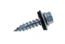 ART 7504-17s цинк Саморез Timberfast с шестигранной головкой и пресшайбой EPDM