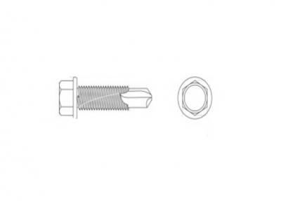 DIN 7504 K цинк Саморез с шестигранной головкой и усиленим буром #5