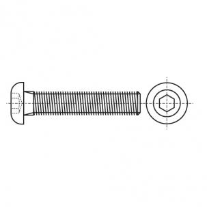 ISO 7380-1 10,9 цинк платковый черный Болт с полукруглой головкой и внутренним шестигранником