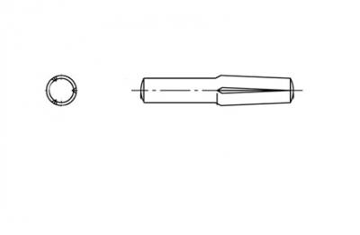 DIN 1474 сталь Штіфт забивний циліндричний з насічкою