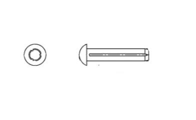 DIN 1476 сталь Штифт циліндричний з напівкруглою головкою