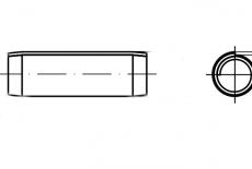 DIN 7344 сталь Штифт цилиндрический пружинный