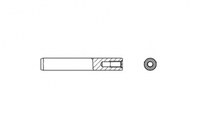 DIN 7979 A1 Штіфт циліндричний з внутрішньою різьбою