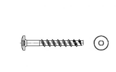 ART 9001-D A4 Шуруп по бетону з напівкруглою головкою під torx - Dinmark