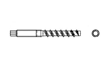 ART 9001-С A4 Шуруп по бетону під шестигранний ключ