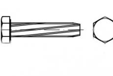 DIN 7513 А цинк Винт с шестигранной головкой самонарізающий