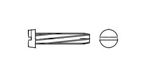 DIN 7513 B цинк Гвинт з циліндричною головкою самонарізаючий