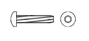 DIN 7516 A цинк Гвинт з напівкруглою головкою самонарізаючий під torx - Dinmark