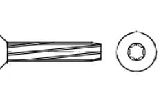 DIN 7516 DE цинк Винт с потайной головкой самонарезающий под torx