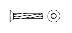 DIN 7516 DE цинк Гвинт з потайною головкою самонарізаючий під torx