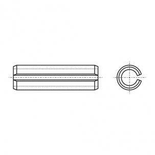 DIN 1481 цинк Штіфт пружинний циліндричний