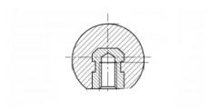 https://dinmark.com.ua/images/DIN 319-E Сферическая ручка с резьбовой вставкой - Інтернет-магазин Dinmark