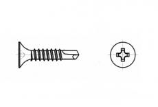 AN 208 фосфат Саморез с потайной головкой и буром для гипсокартона металл - Інтернет-магазин Dinmark