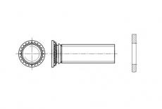 AN 357 цинк Гвинт запресовочний - Інтернет-магазин Dinmark