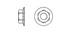 https://dinmark.com.ua/images/AN 608 Гайка шестигранная с фланцем для профилей - Інтернет-магазин Dinmark