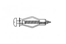 AN 302 нейлон Анкер для гіпсокартону - Інтернет-магазин Dinmark