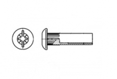 AN 68 нікель Стяжка мебельна - Інтернет-магазин Dinmark