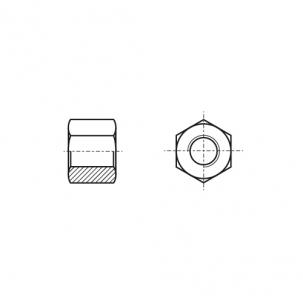 AN 122 Гайка шестигранна з трацепевидною різьбою стальна