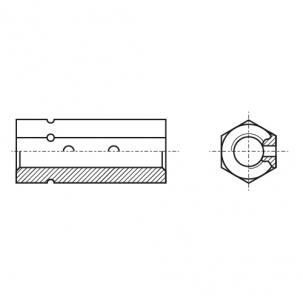DIN 1479 цинк Гайка шестигранная с двумя отверстиями