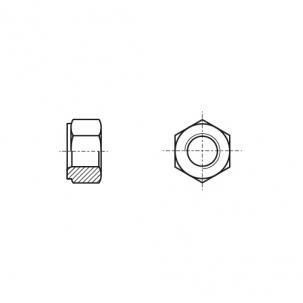 DIN 2510-5 NF 25CrMo4 цинк Гайка шестигранна