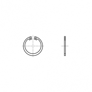 DIN 472 1.4532 Кільце стопорне внутрішнє - Dinmark