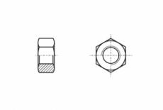 DIN 6915 / EN 14399-4 10 цинк горячий Гайка высокопрочная шестигранная