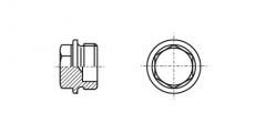 https://dinmark.com.ua/images/DIN 7604 Заглушка резьбовая с шестригранной головкой и фланцем