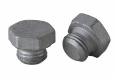 DIN 7604-A цинк платков Заглушка резьбовая с шестигранной головкой и фланцем