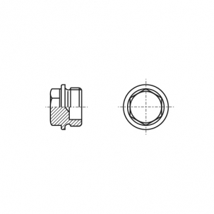 DIN 7604-A цинк платковий Заглушка різьбова з шестигранною головкою і фланцем