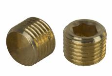 DIN 906 латунь Заглушка резьбовая с мелким шагом