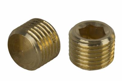 DIN 906 латунь Заглушка різьбова з дрібним кроком