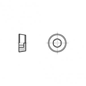 DIN 906 цинк платковий Заглушка різьбова з дюймовою різьбою