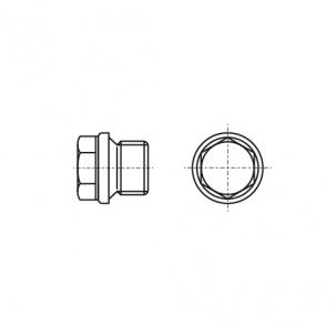 DIN 910 латунь Заглушка різьбова з дрібним кроком