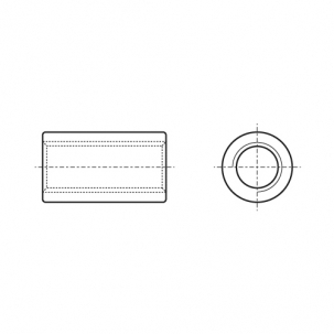 ART 9070 A2 Гайка втулка циліндрична - Dinmark