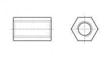 https://dinmark.com.ua/images/ART 9071 Гайка втулка шестигранна