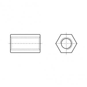 ART 9071 A2 Гайка втулка шестигранная