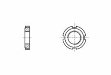 DIN 1804 сталь 17H Гайка шліцева кругла - Інтернет-магазин Dinmark