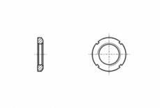 DIN 981 Гайка шліцева стальна