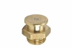 DIN 3404-M латунь Пресмаслянка з плоскою головкою