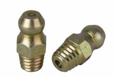 DIN 71412 AS цинк желтый Пресс-масленка с самонарезающие резьбой 180 градусов